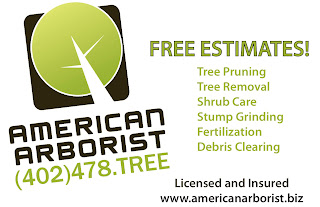 Call American Arborist for free estimates on tree pruning, tree removal, shrub care, stump grinding, fertilization and debris clearing. American Arborist is a licensed and insured tree care provider serving Omaha, NE.