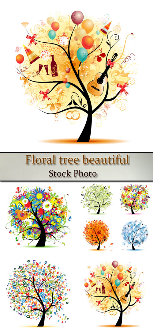 Stock: Floral tree beautiful