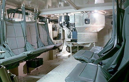 Десантное отделение БТР-90.