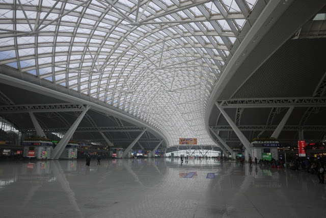 main departure hall at Guangzhou South Train Station in China