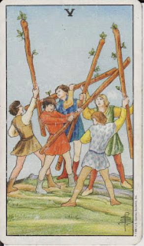 5 Five Of Wands V