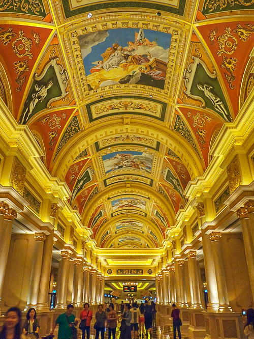 Painting ceiling in The Venetian Macao