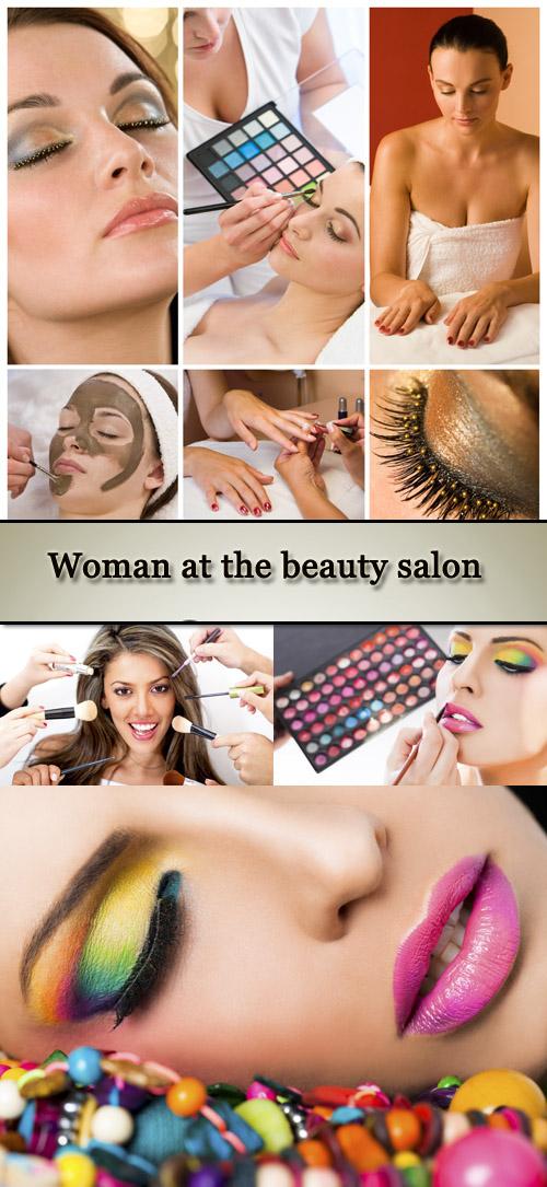 Stock Photo: Woman at the beauty salon
