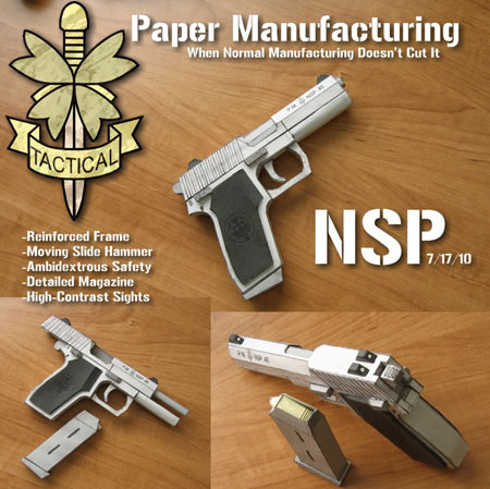 Non Specific Pistol Papercraft