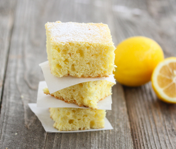 photo of a stack of Skinny Lemon Cake