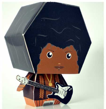 Jimi Hendrix Papercraft