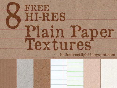 8 Free Hi-Res Plain Paper Textures