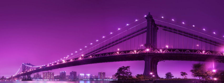 Manhattan bridge newyork city facebook cover