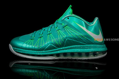 nike lebron 10 low ss green white 2 02 A Detailed Look at Nike LeBron X Teal Green (579765 300)