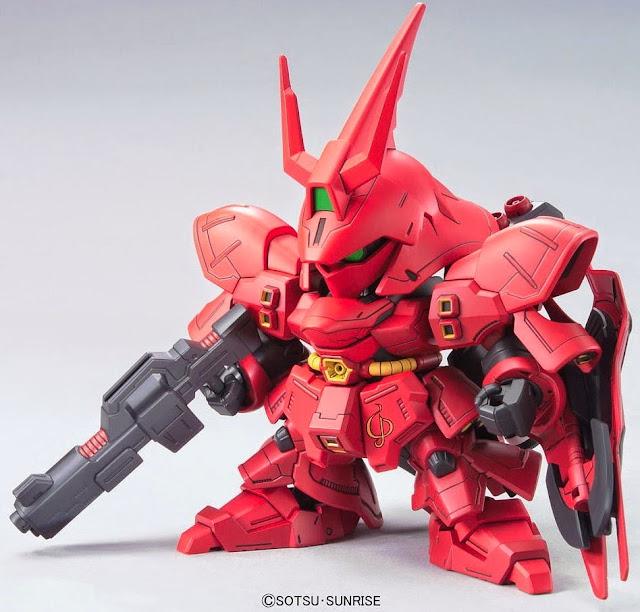Bộ lắp ghép mô hình MSN-04 Sazabi SD Gundam BB 382 ngộ nghĩnh, trang bị các loại vũ khí đẹp mắt