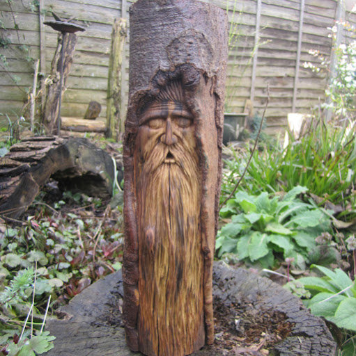 Woodwose carving wind fall found wood