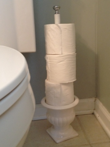 Two It Yourself Diy Toilet Paper Holder From A Planter
