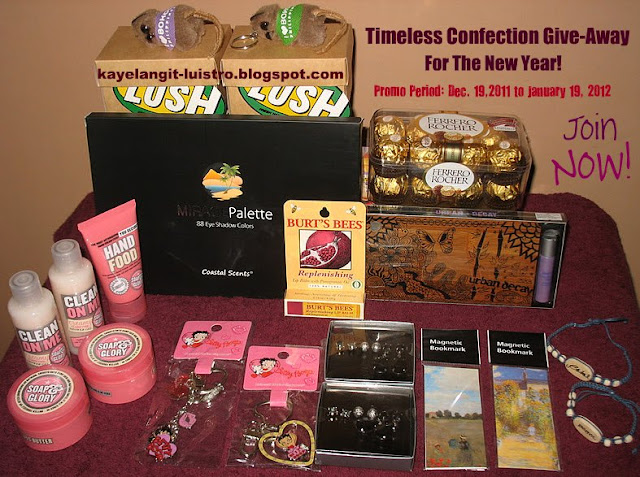 Join Timeless Confection Blog Give-Away For The New Year! (19/01)