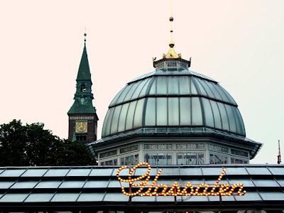 Tivoli Gardens in Copenhagen Denmark
