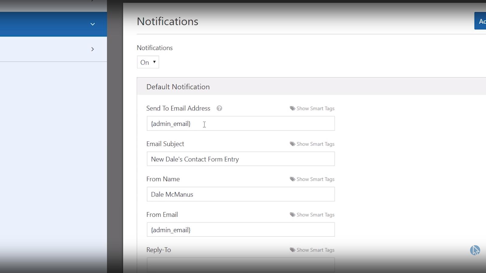 wpforms wordpress contact form notification settings