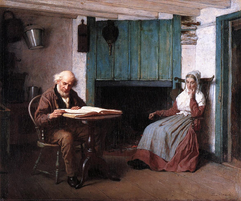 Eastman Johnson - Thy Word is a Lamp unto My Feet and a Light unto My Path