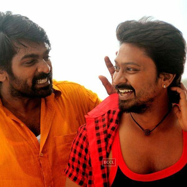 Vijay Sethupathi and Kreshna in a still from the Tamil movie Vanmham.