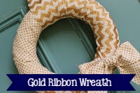 Gold Ribbon Wreath