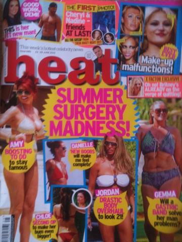 Heat kids and body image, Heat magazine, Body image, Parenting