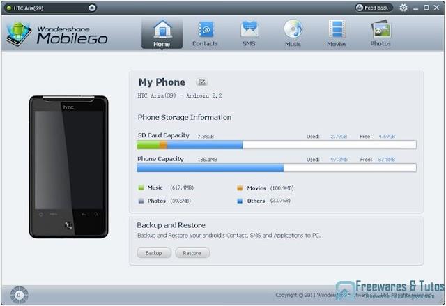 Wondershare MobileGo : un logiciel gratuit de gestion des données des téléphones Android sur PC