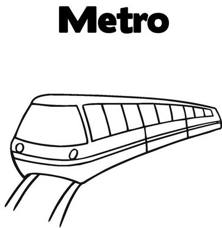 Metro free coloring pages Coloring
