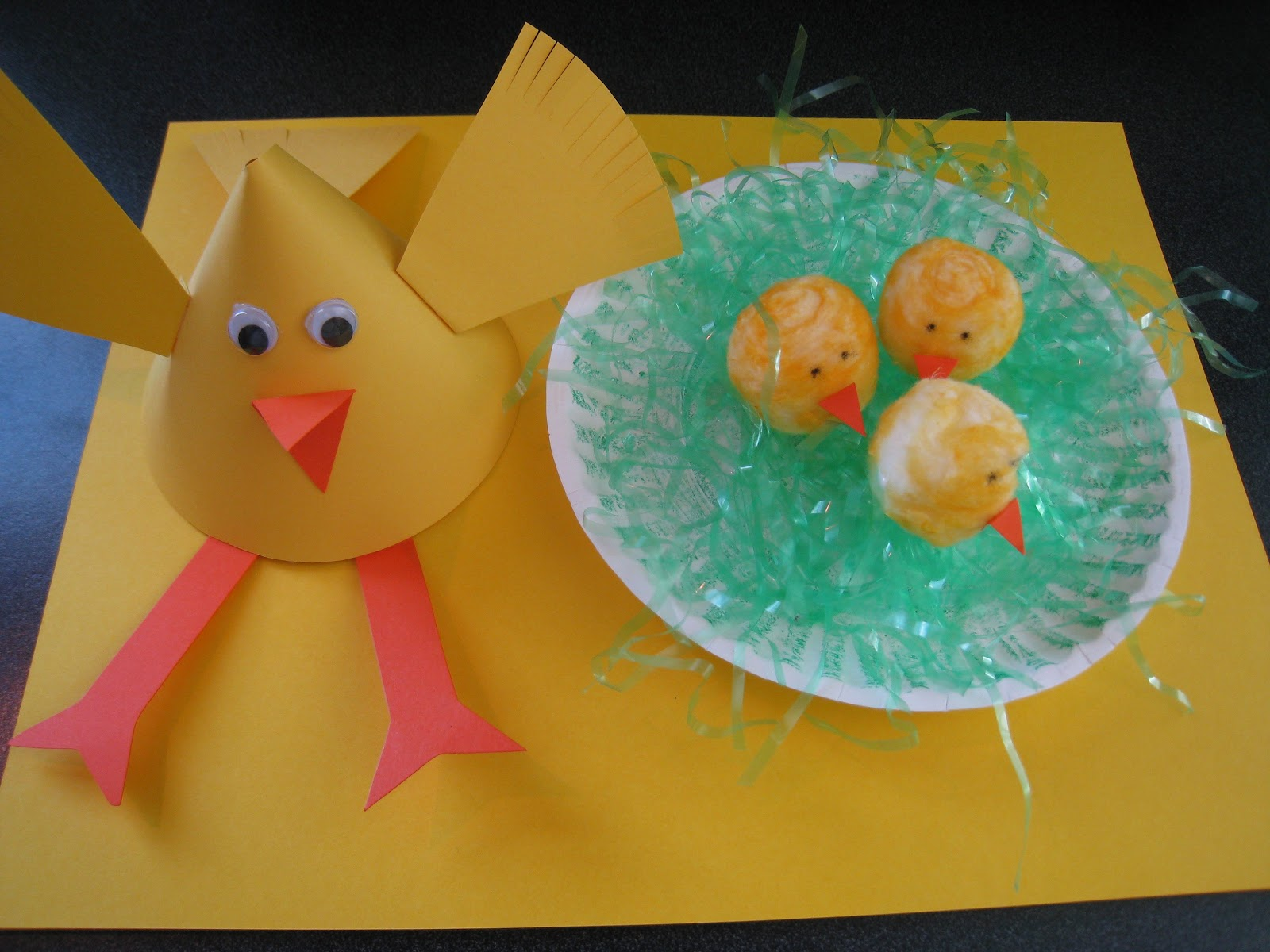 Seven Sisters Mama And Baby Chick Craftand How To Dye A Cotton Ball
