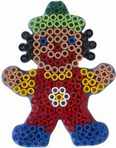 Chú Hề Ngộ nghĩnh trong bộ đồ chơi xếp hình Hama Maxi Clown Starter Kit