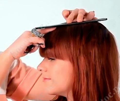 Day cat toc nu co ban huong dan cat toc mai 7 Dạy cắt tóc nữ cơ bản, Hướng dẫn cắt tóc mái