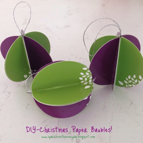 DIY Christmas Paper Baubles