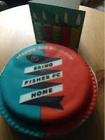 Fisher FC logo on a gluten free cake