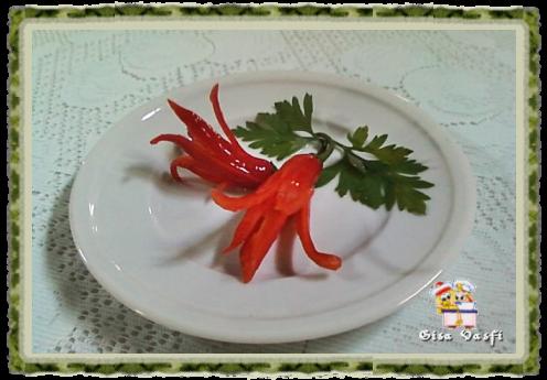 Flor de pimenta vermelha