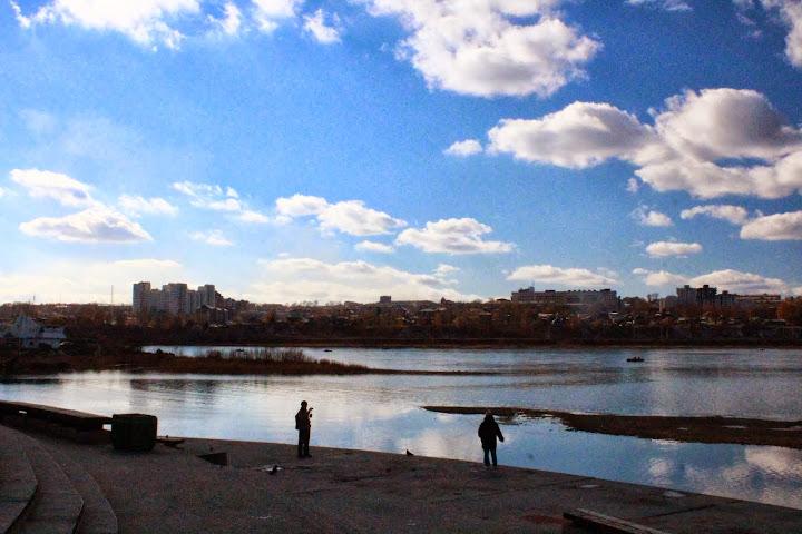 Angara River bank Irkutsk russia