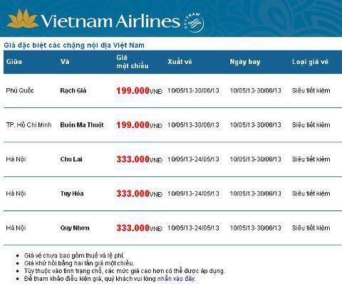 vé máy bay giá rẻ vietnam airlines - vé giá rẻ