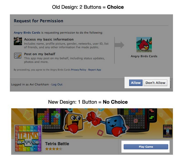 Facebook Apps Privacy Tricks with New Design