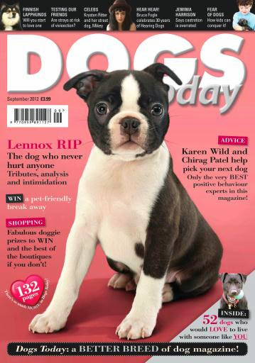 Dogs Today Magazine Cover September 2012 Issue