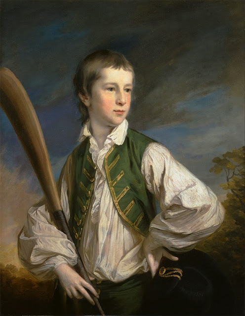 Francis Cotes - Charles Collyer as a Boy, with a Cricket Bat - Google Art Project