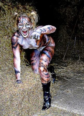 DeviantArt More Like Griselda cat Bodypaint by cats creations