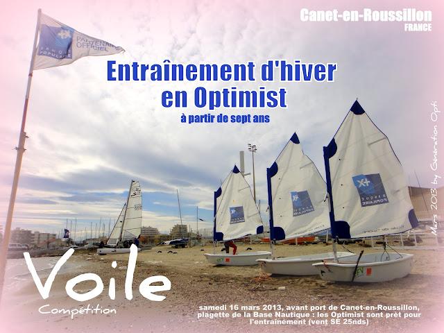 voile Optimist compétition Canet-en-Roussillon Génération_Opti