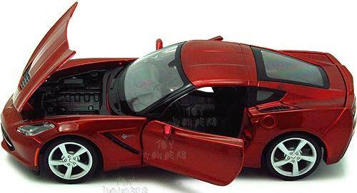 Ô tô 2014 Corvett Stringray Maisto 31505 tỷ lệ 1/24 mở được cánh cửa và nắp capo