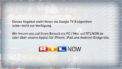 RTLnow vs. Google TV