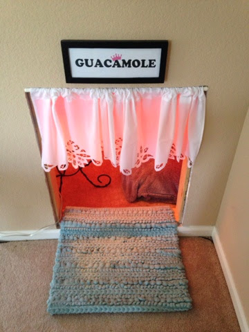 How to make an under the stairs dog house www.thebrighterwriter.blogspot.com #DIY