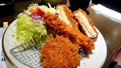 Combo plate at Tonkatsu restaurant in Tokyo
