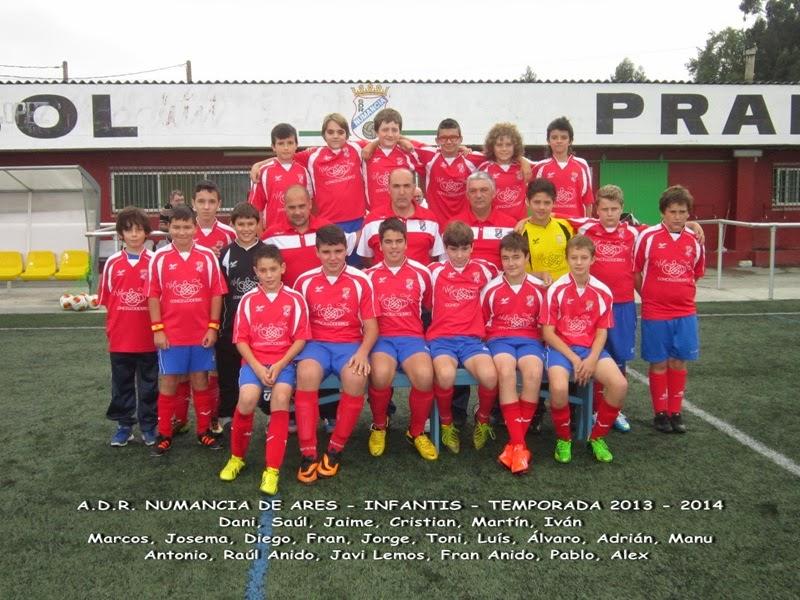Numancia de Ares. Equipo infantíl temporada 2013-2014.
