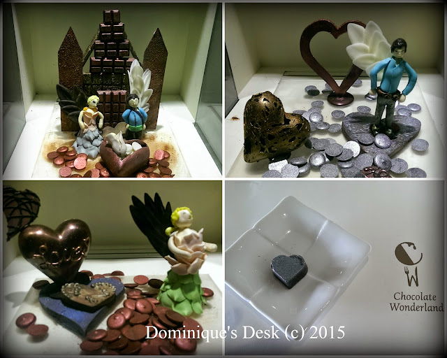 Love theme chocolate displays