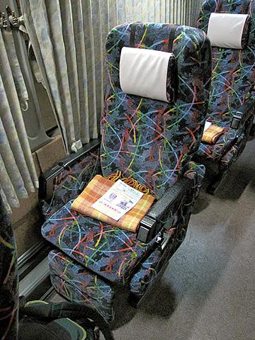 富士セービングバス「旅の散策」名古屋便 シート