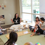 During the Parent & Child Infant class, families enjoy singing together for fun and to enhance language acquisition.