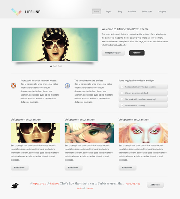 Lifeline Flexible WordPress Theme