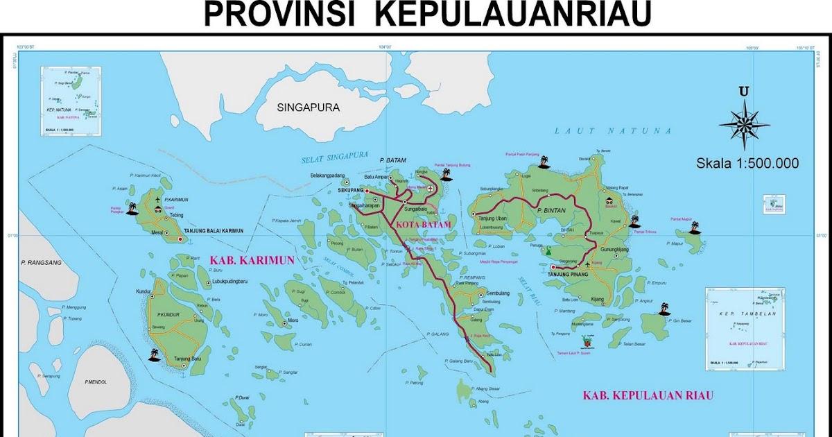 takjub indonesia peta propinsi kepulauan riau