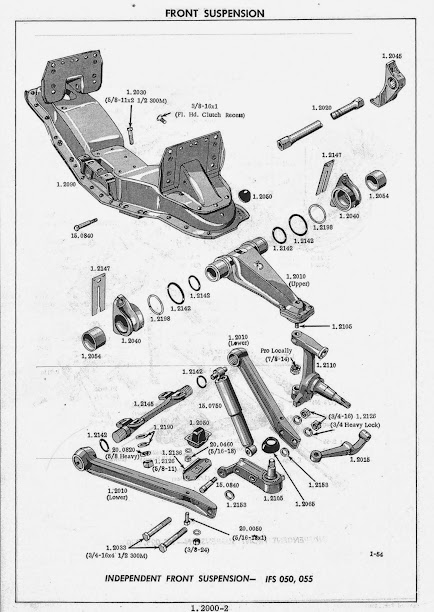 Exploded Stock Front Suspension Diagram