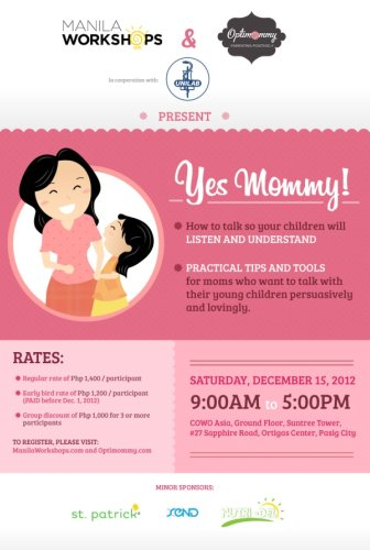 events, mummy events, parenting workshops